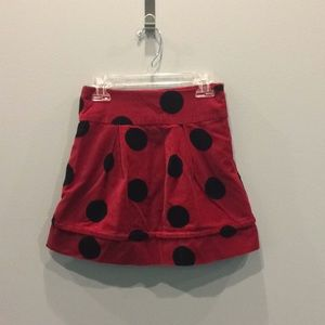 The Children's Place Red Ladybug Velvet Skirt